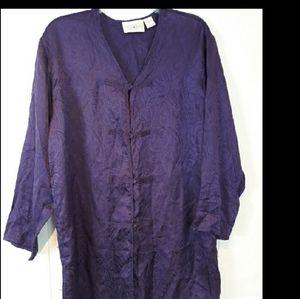 Victoria's Secret Gold Label silk nightgown shirt